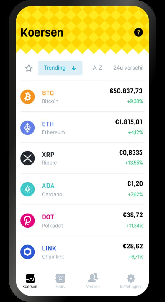 BLOX crypto app mobiel