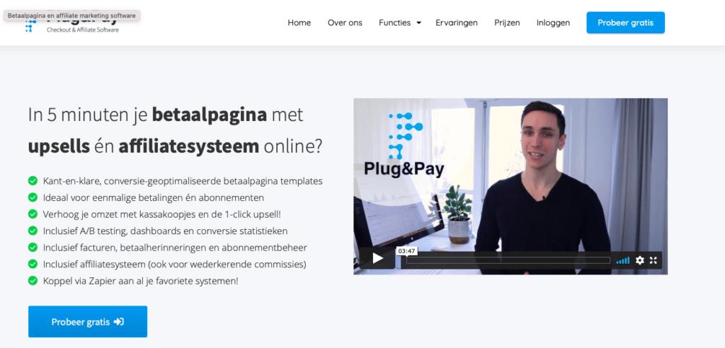 Plug&Pay affiliate netwerk