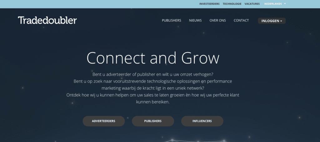 Tradedoubler affiliate netwerk