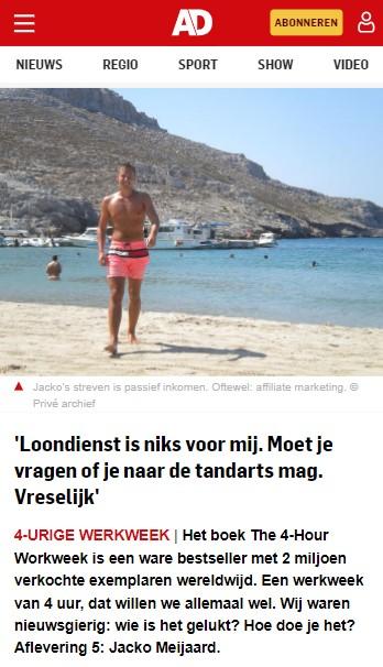 Wie is Jacko Meijaard op AD.nl