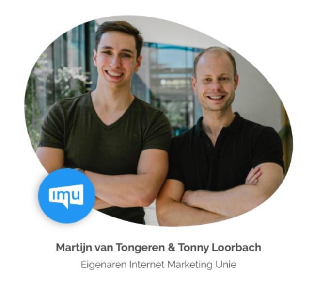 Martijn van Tongeren en Tonny Loorbach van de IMU