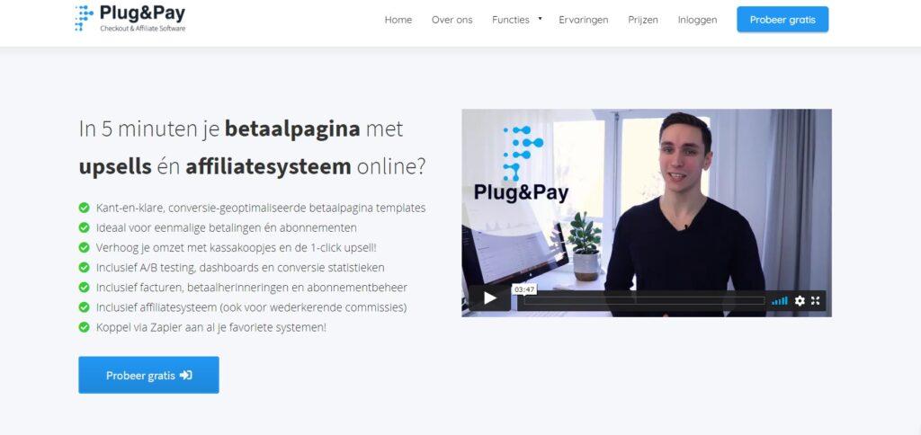 Plug and Pay betaalpagina's imu